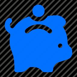 bank, finance, piggy, savings icon