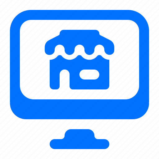 monitor, online, shop, store icon