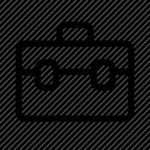 case, diplomatic, finance, leather, lugagge icon