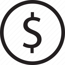 business, circle, currency, dollar, sign icon