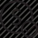 bank, checkmark, dollar, sign, yes icon