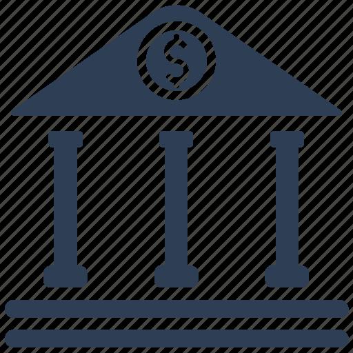 bankbank, banking, building, finance, money icon