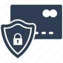 card, credit, payment, protect, secure, security icon