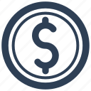 currency, dollar, finance, investment, money icon