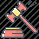 auction, bargain, chaffer, hammer, law, malleus icon