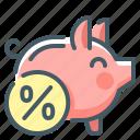 account, deposit, bank, percent, piggy, piggy bank