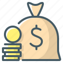 bag, finance, finances, saving, money icon