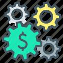 wheel, making, cogwheel, making money, gear, money