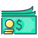 cash, currency, dollar, money, profit, revenues icon