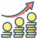 finance, growth, growth up, market, stock, stock exchange, stock-market icon