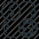 finance, flow, money, money flow, money turnover, turnover icon