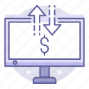 banking, business, finance, internet, transfer icon