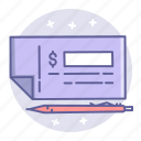 bank, business, check, finance icon