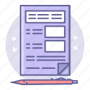 business, document, finance, tax icon