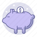 bank, business, deposit, finance, pig, piggy icon