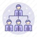 business, finance, management, structure, team, work icon