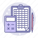 accounting, bookkeeping, business, calculator, finance icon