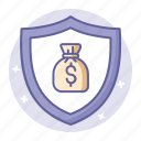 business, finance, insurance, protection, safe, safety, shield icon