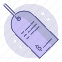 business, finance, label, price, tag icon