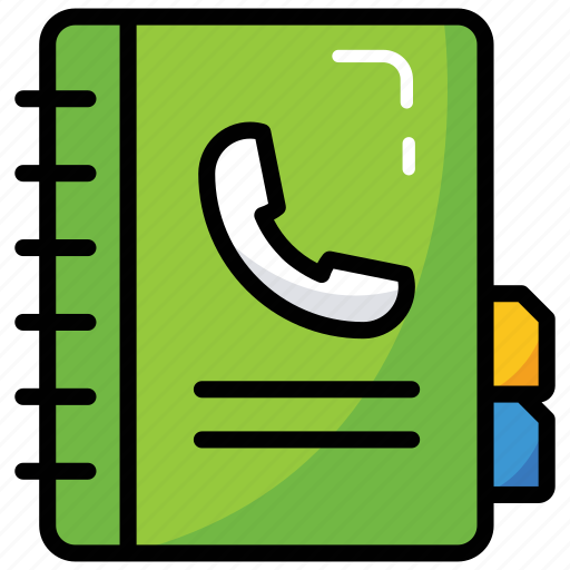 account book, address book, biography, contacts, phone directory icon
