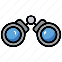 binocular, binocular telescope, field glasses, looking, through binocular, view, zoom icon