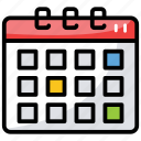calendar, date, day, daybook, yearbook icon