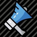 announcement, communication, loudspeaker, megaphone, promotion icon