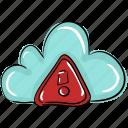 cloud computing, cloud error, cloud hazard, cloud storage, cloud technology icon