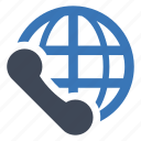 call, communication, global, telephone icon