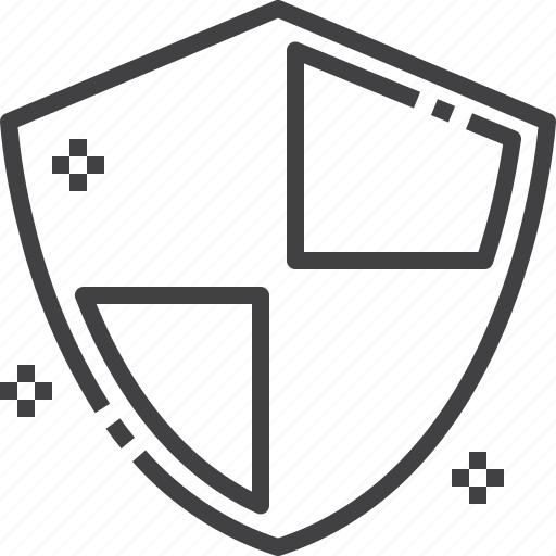 access, defense, protection, safety, security, shield icon