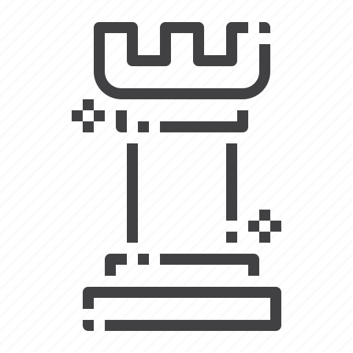 business, chess, marketing, rook, strategy icon