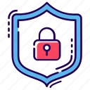encryption, protection, protective shield, security, security guard icon