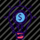 budget plan, business creativity, business idea, business innovation, financial idea icon