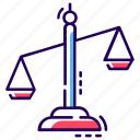 balance scale, fairness, inequity, justice scale, law icon