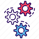 cogwheels, configuration, gears, maintenance, settings, tool icon