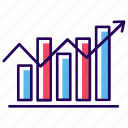 analytics, business chart, business data, business growth, growth chart, infographic, statistics icon