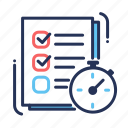 checklist, done, planner, task list icon