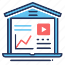 business, chart, finance, online course icon
