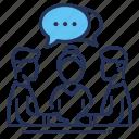interpreting, meeting, negotiation, partners icon