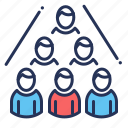 colleagues, company structure, group, staff icon