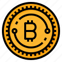 bitcoin, coin, cryptocurrency, digital, ecommerce icon
