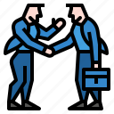 business, hand, partner, partnership, people icon