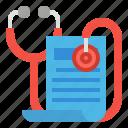 cash, file, health, insurance, stethoscope icon