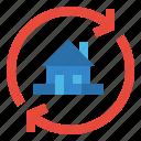 bank, cash, house, lone, refinancing icon