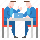 business, businessman, interview, meeting, teamwork icon