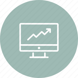 analytics, chart, computer, data, diagram, graph, statistics icon