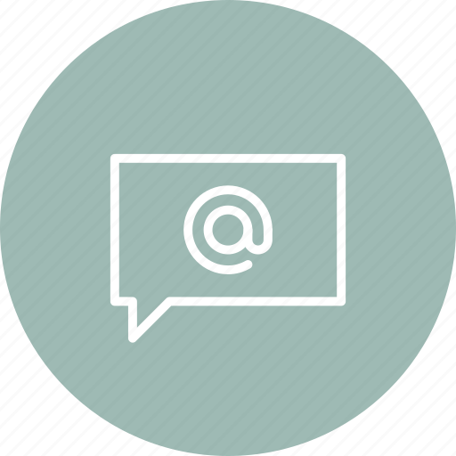 address, bubble, communication, email, mail, message, speech icon