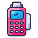 business, credit card machine, point of sale, shopping icon
