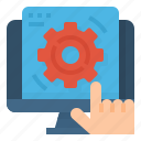config, custom, edit, process, working icon