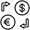 exchange, money, currency, dollar, rate, coin